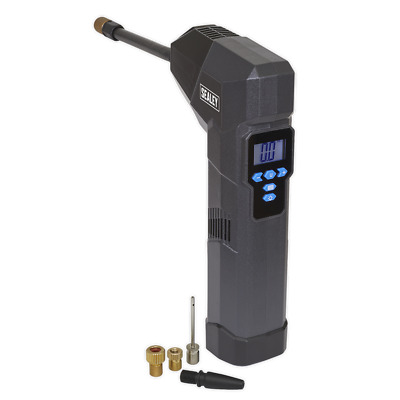 Compact Rechargeable Tyre Inflator & Powerbank with Work Light - Sealey - CTI120