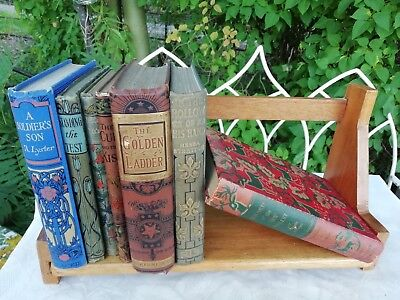 Antique 1920's/30's Art Deco Wooden Book Shelf Stand Free Standing