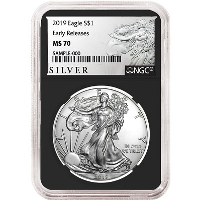 2019 $1 American Silver Eagle NGC MS70 ALS ER Label Retro Core