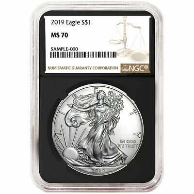 2019 $1 American Silver Eagle NGC MS70 Brown Label Retro Core