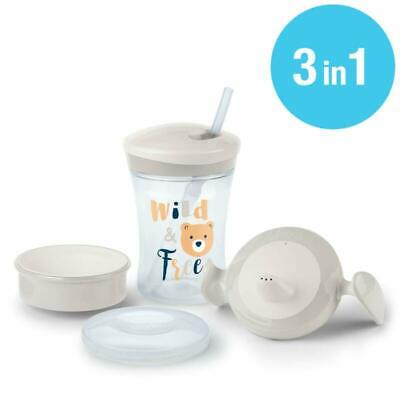 3-in-1 Trinklern-Set, mit Trainer Cup Trinkbecher Baby, Magic Cup 360° Trinkler