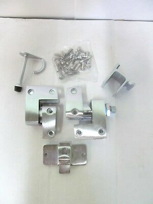 "INSWING POLYMER PARTITION DOOR KIT SET HARDWARE 3-1/4""H x 5-1/2""W x 3-1/4"" THICK"