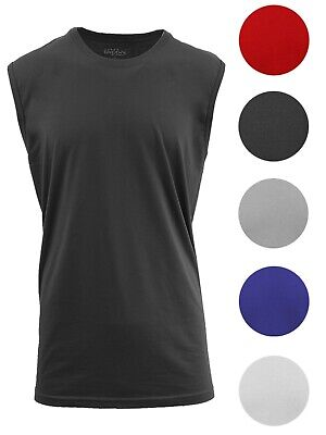 Men's Muscle Tank T-Shirt Cotton Tee Colors Workout Fitness Lounge Gym Running