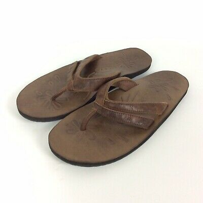 44a6d6e00bd7 Keen Florence II Sandals Womens 8 EU 38.5 Brown Leather Flip Flops Arch  Support