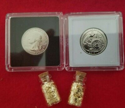 2019W West Point Lowell National Park Quarter from ROLL BONUS* 2 Vials of GOLD