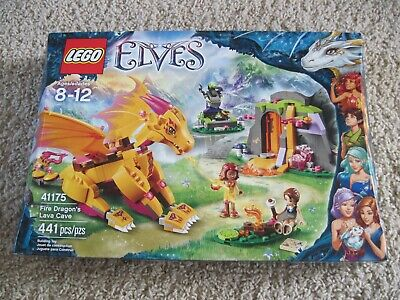 41175 >> Lego Elves Set 41175 Fire Dragon S Lava Cave From 2016 New In