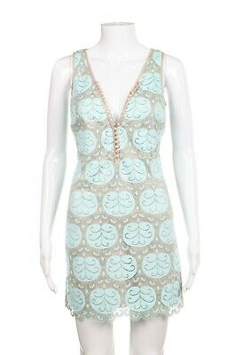 97419fb2b7a7e NWT LILLY PULITZER Dress 2 Blue Gold Nude Nadine Shift Lace Cocktail  Embroidery