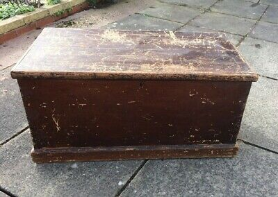 Vintage Wood Victorian Trunk  Blanket Chest, Coffee Table, Toy Box, Shabby Chic