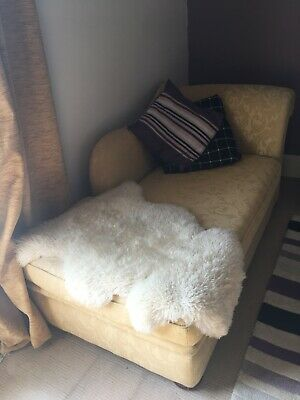 chaise longue sofa bed yellow/gold