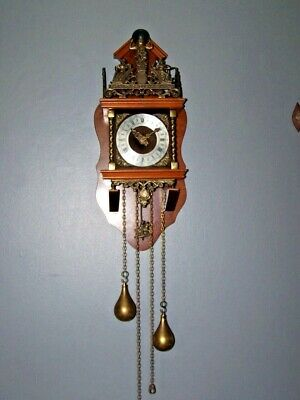 Zaanse Zaandam Warmink Wuba Dutch Antique Vintage Wall Clock 8 Day Holland