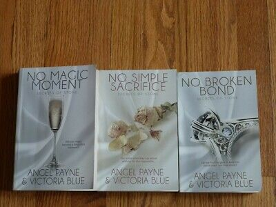 Secrets of Stone Series by Angel Payne & Victoria Blue Lot of 3 PB Books VG