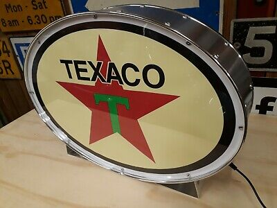 Texaco,automobilia,petrolania,oil,fuel,mancave,lightup sign,garage,workshop