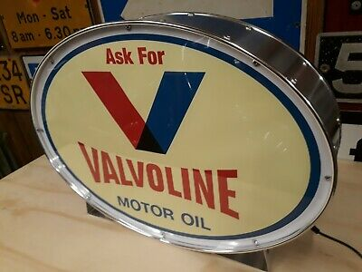 Valvoline,automobilia,petrolania,oil,fuel,mancave,lightup sign,garage,workshop