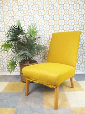 Vintage 1950's Mustard Yellow Bedroom Chair Mid-Century Cocktail Lounge Chair