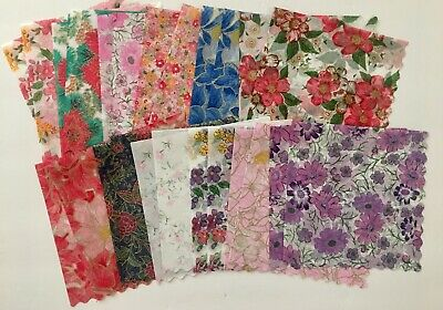 Set of 24 Beautiful Rice Paper Napkins for Decoupage Paper Crafts 12 Designs