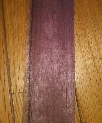 "1 purpleheart raw wood veneer 28 1/2"" x 1 1/2"" purple heart"
