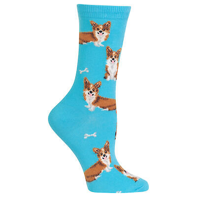 a862bae6074 CORGI DOG CREW Socks - Socksmith NEW funky Black Novelty mens dress ...
