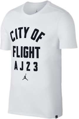 46acd7a68ee NIKE AIR JORDAN JSW City of Flight Zipcode T-Shirt Black 913019-016 ...