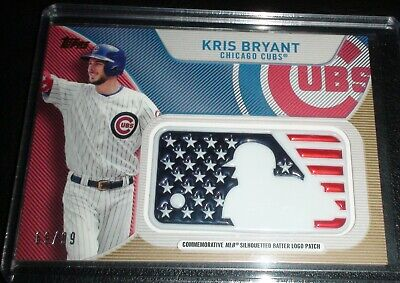 Kris Bryant Non/Rookie/Auto Topps /99 Independance Day Batter Logo Patch Chicago
