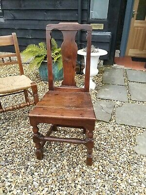 Early Georgian Oak Back Stool Side Chair Dining Chair Early 18th Century Oak