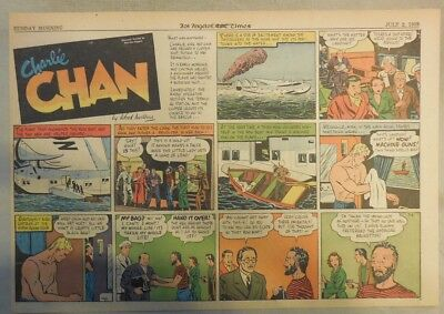 Charlie Chan by Alfred Andriola from 7/2/1939 Half Page Size!