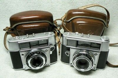 TWO (2) Vintage AGFA Optima 35mm Film Camera. FIRST & LAST Model 500S. w/ Cases