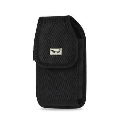 Reiko Vertical Rugged Pouch With Belt Clip In Black (4.4X2.3X0.9 Inches)