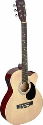 Stagg SA20ACE N Auditorium Cutaway Acoustic-Electric Guitar - Natural