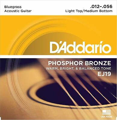 D'Addario EJ19 Phosphor Bronze Bluegrass Light Top