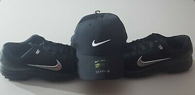 ad59bd8ef09c6  TIGER WOODS  Golf Shoes Nike Air Zoom TW71 Mens Size 11.5 M+Sleeve.