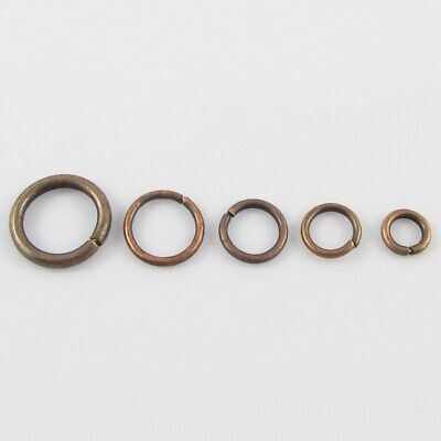 Bulk Red Copper Jump Rings Open Jumprings Findings Craft Select size FREE POST