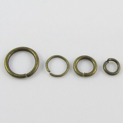 Bulk Antique Bronze Jump Rings Open Jumprings Findings Craft Pick size FREE POST