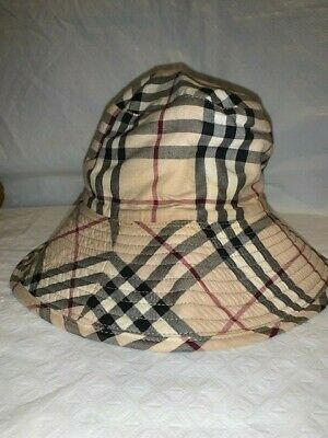 8a08a639f39 BURBERRY NOVA CHECK Canvas Bucket Hat with Buckle -  50.00