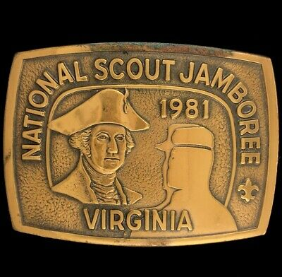 Vtg 1981 Bsa National Scout Jamboree A.P. Hill Virginia Belt Buckle
