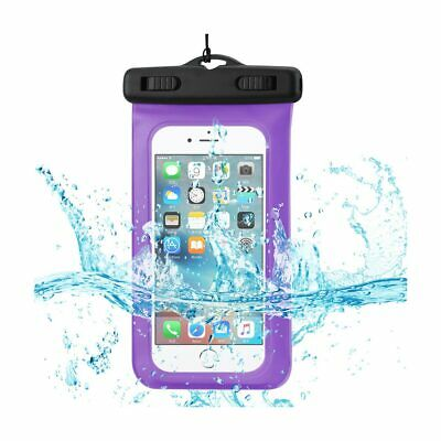 Waterproof For 4.7 Inches Devices With Floating Adjustable Wrist Strap In Purple