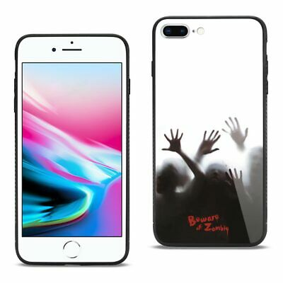 Reiko iPhone 8 Plus Hard Glass Design TPU Case With Zombies
