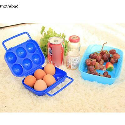Plastic 12 Grids Portable Camping Picnic Barbecue Outdoor Egg Storage M5BD