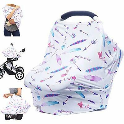Car Seat Covers Nursing Cover Carseat Canopy Multi-use Breastfeeding Covers New