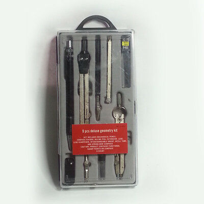Hight Quality Study 9-Compass Geometry Kit Drawing Drafting Tools