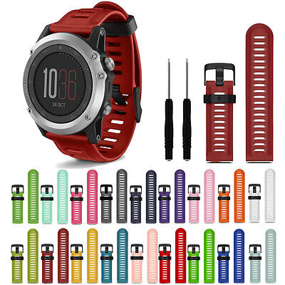 Silicone Watch Band Bracelet Strap Replacement For Garmin Fenix 3/HR Smart Sport