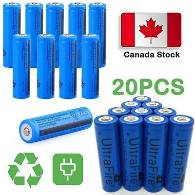 20X Ultrafire 6000mAh 18650 Battery 3.7V Lithium Rechargeable Batteries CA