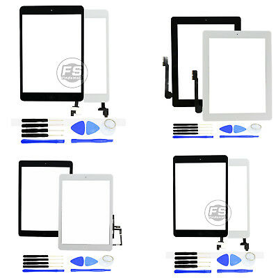Touch Screen Digitizer Replacement +Tools for iPad 2/3/4/5/air/mini 1/2/3/4 US