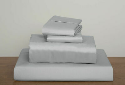 600TC Egyptian Cotton Sheet/Duvet Set/Fitted/Flat AU SuperKing Size Silver Solid