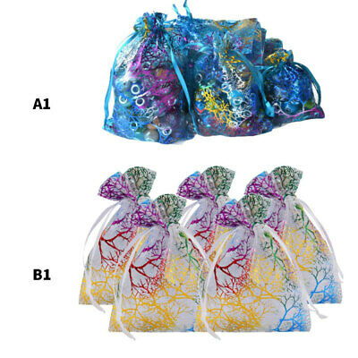 100x Organza Sheer Wedding Party Favour XMAS Gift Bags Candy Jewellery Pouch