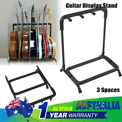 AU Guitar Stand Stylish Tidy Storage Rack Fits Metal Padded Foam 3 Guitars