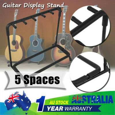 5 space Guitar Stand Stylish Tidy Storage Rack Metal Padded Instrument Accessory