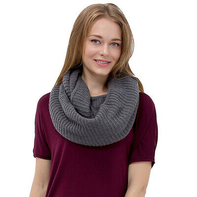 NEW Knit Infinity Loop Scarf Warm Thick Cowl Wrap Circle Winter Scarf