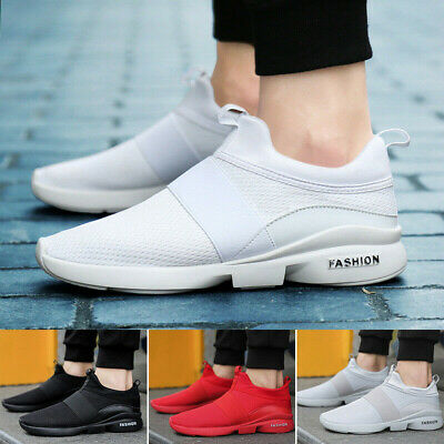 Mens Womens Sports Shoes Mesh Slip On Casual Running Trainers Breathable Sneaker