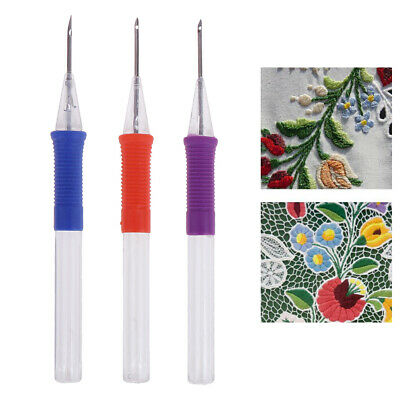 DIY Embroidery Pen Hand Embroidery Needle Weaving Tool Punch Needle Craft EW