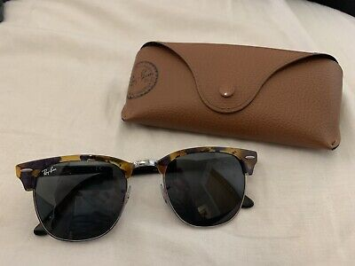 998c4a903bff6 Ray-Ban Sunglasses Clubmaster RB 3016 1157 Spotted Black Havana G-15   51